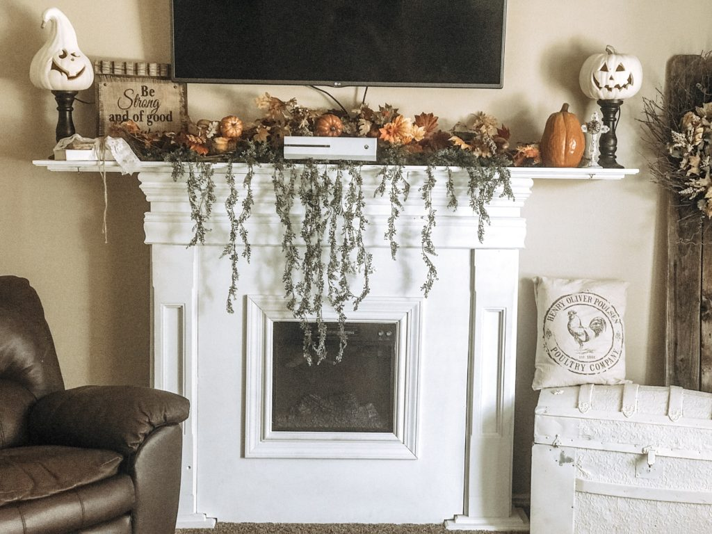 My Diy Shabby Chic Farmhouse Fireplace And Mantle